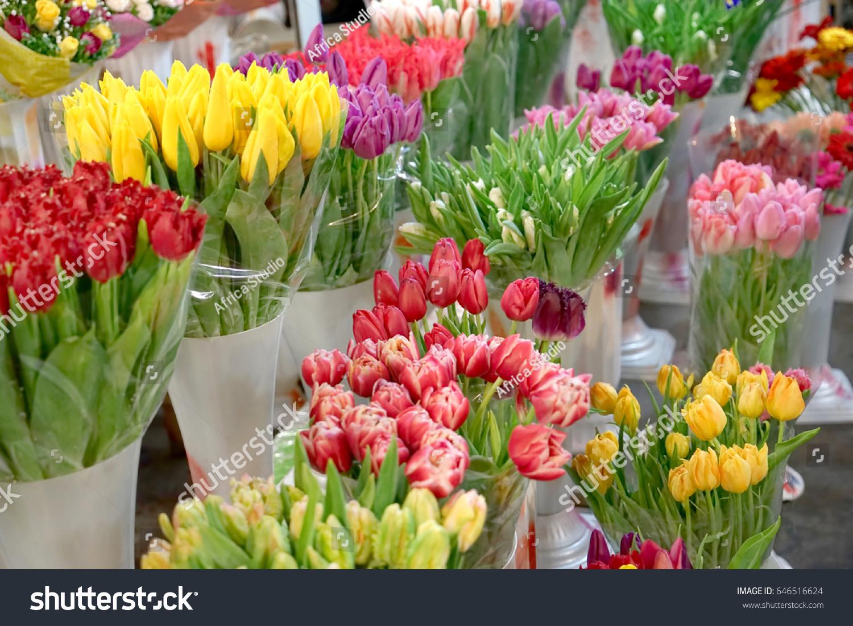 Assortment Beautiful Flowers Floral Shop Stock Photo Edit Now