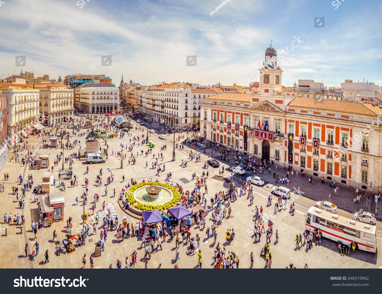 Madrid spain may 2017 puerta del stock photo 646519942 - Space madrid ...