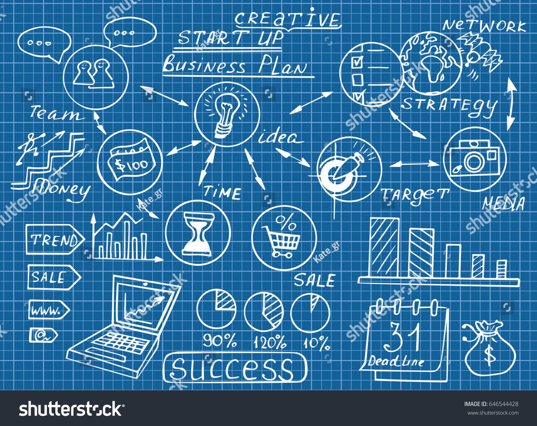 Business Doodles Sketch Set Infographics Elements Stock Vector ...
