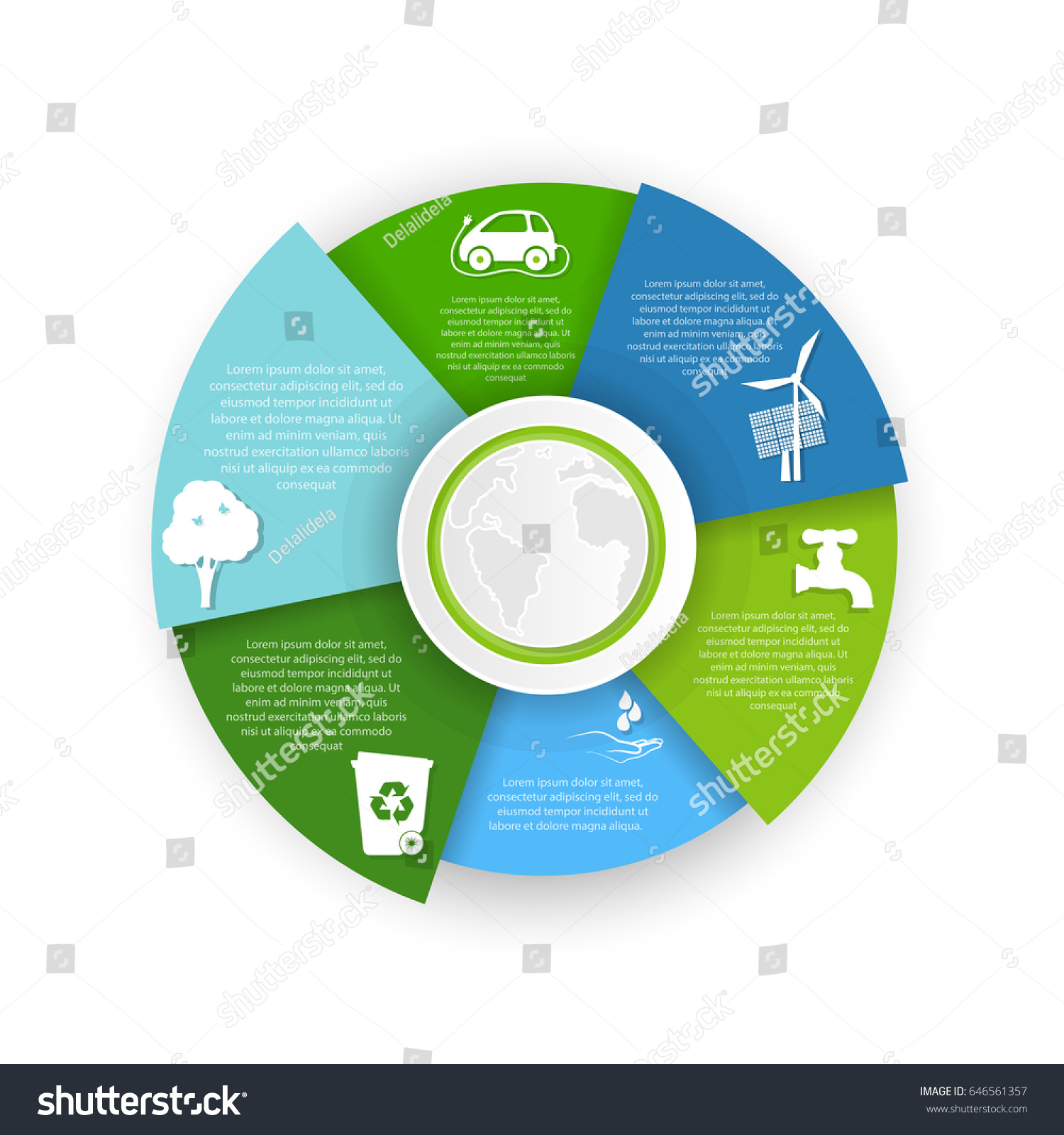 Pie chart pollution environment stock vector 646561357 shutterstock pie chart of pollution environment geenschuldenfo Images