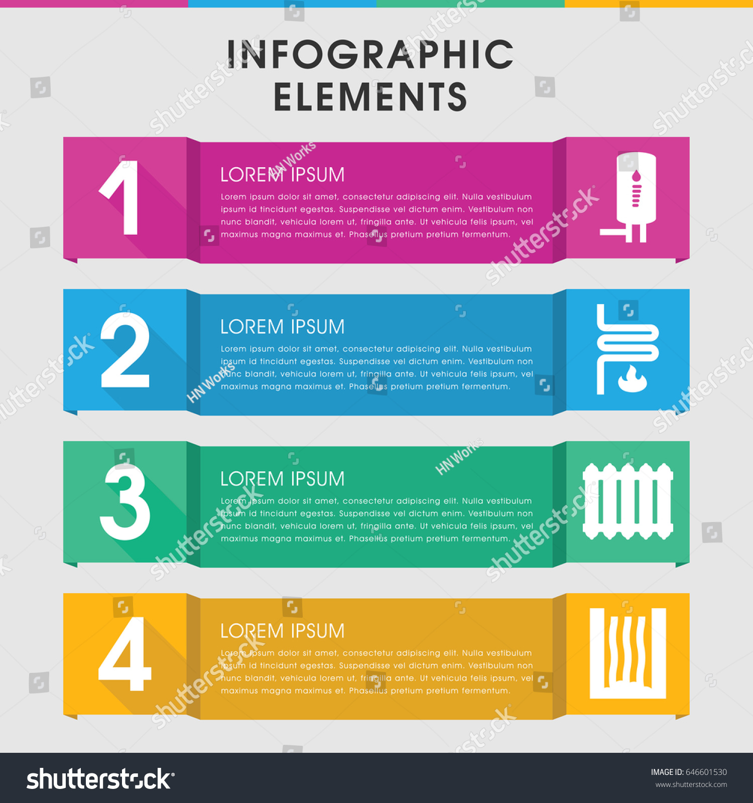 Modern Heater Infographic Template Infographic Design Stock Vector ...