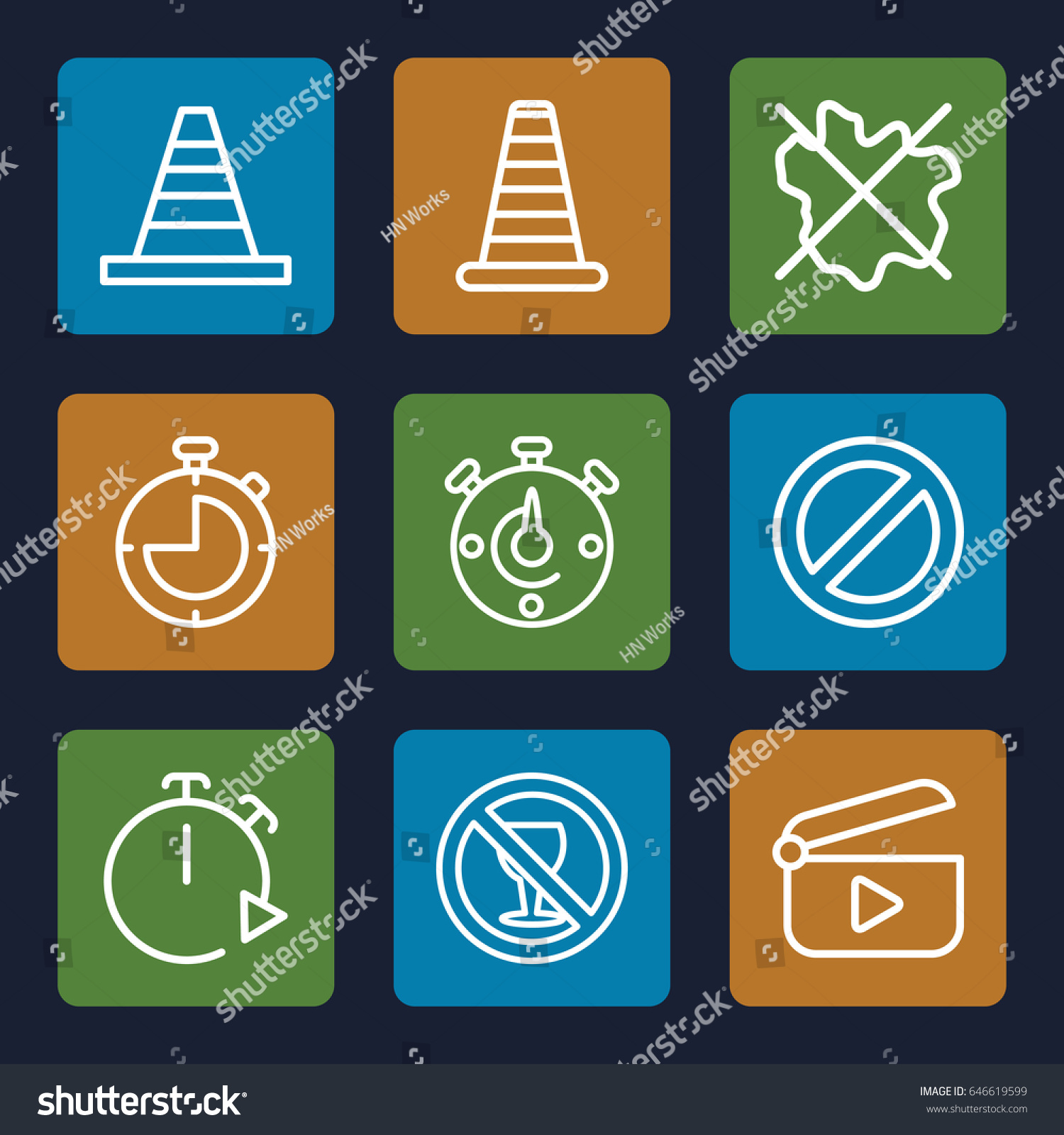 Stop icons set set 9 stop stock vector 646619599 shutterstock stop icons set set of 9 stop outline icons such as cone barrier no biocorpaavc