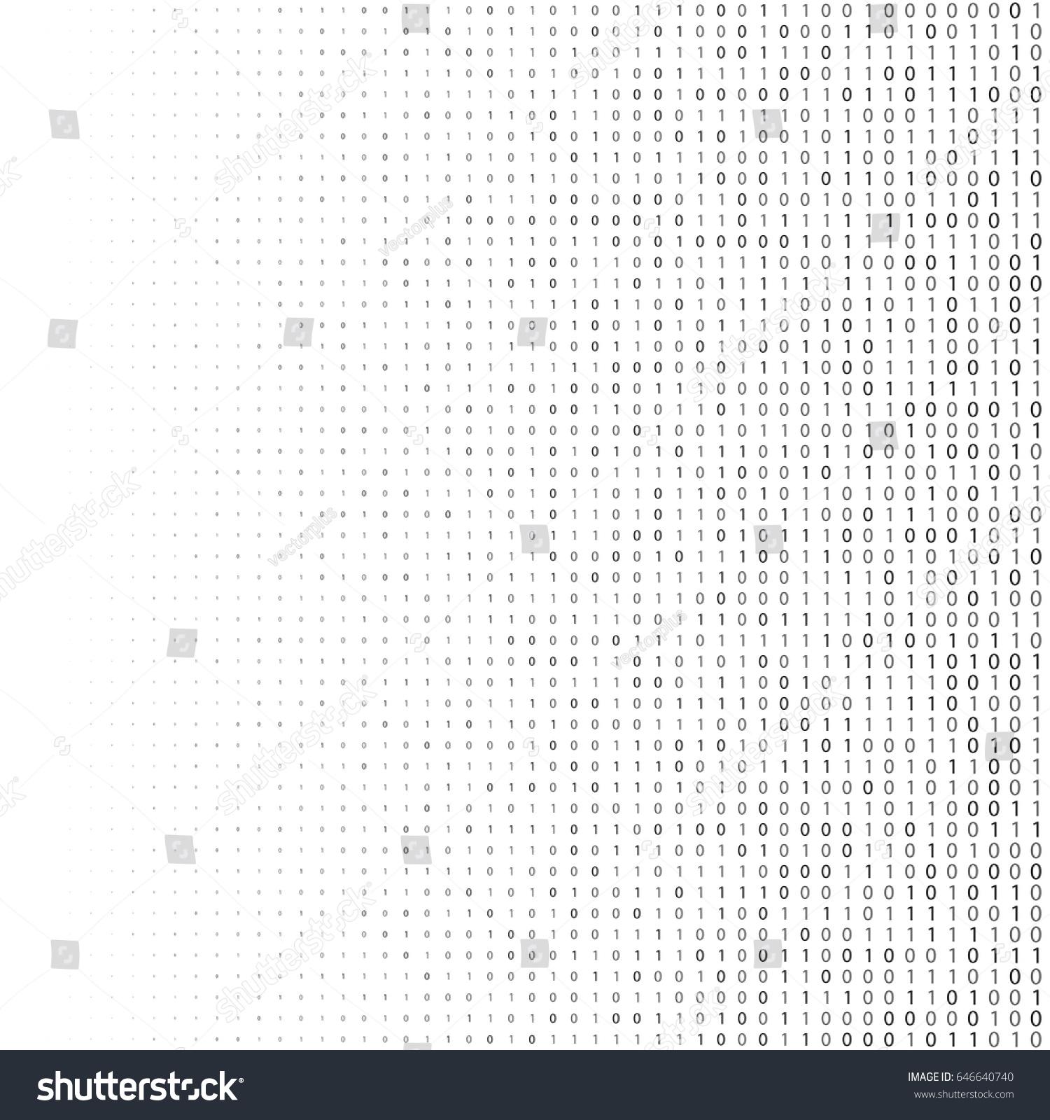 Binary code halftone background zero one stock vector 646640740 binary code halftone background zero and one abstract symbols coding programming concept vector illustration biocorpaavc Gallery