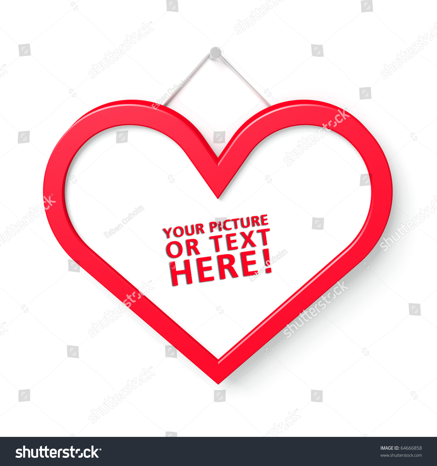 Red Heart Shaped Frame Room Photo Stock Illustration 64666858 ...
