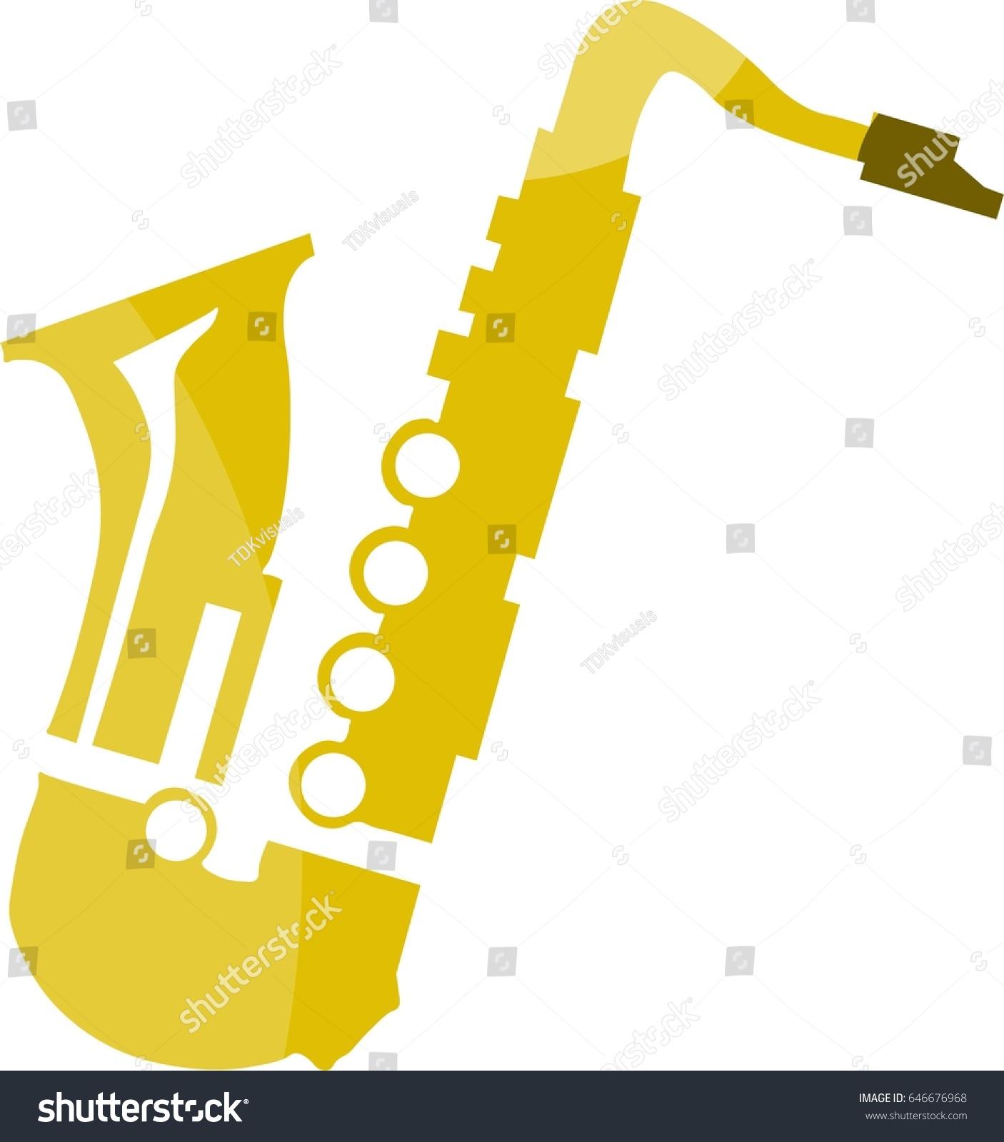 clipart saxophone stock vector 646676968 shutterstock rh shutterstock com saxophone clipart vector saxophone clip art free
