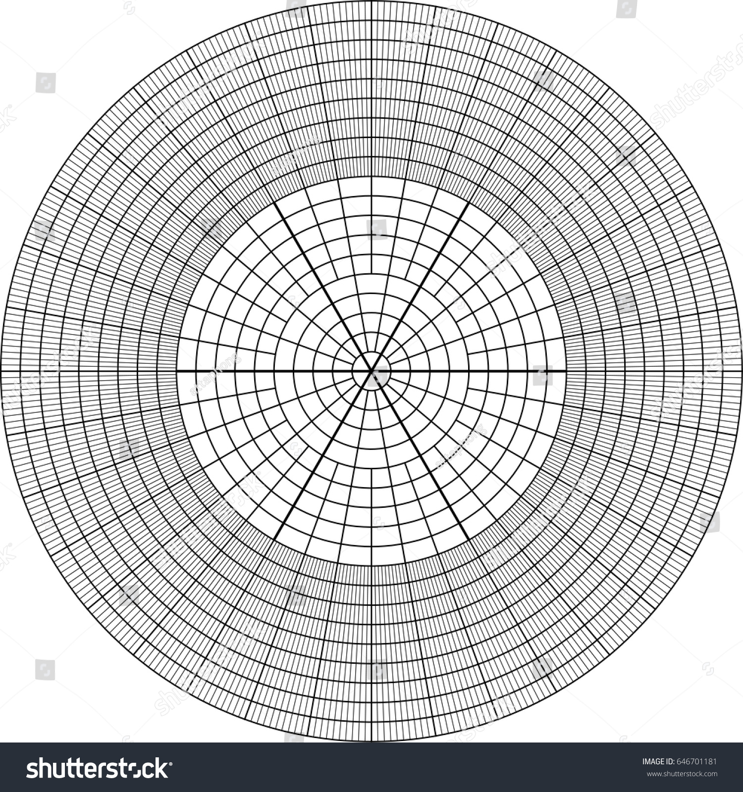 Sheet Polar Graph Paper Shows Wear Stock Photo (Photo, Vector ...