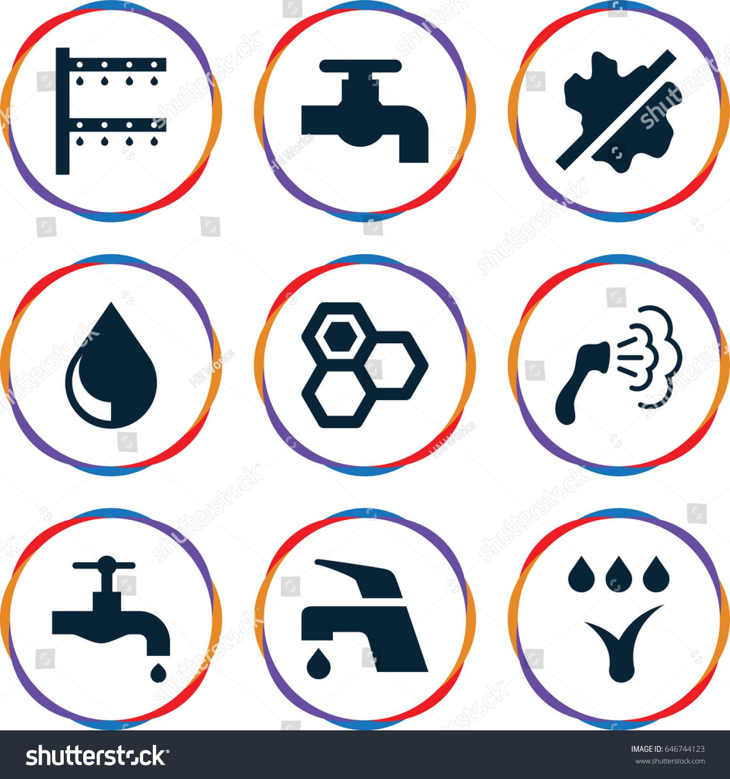 Drop icons set set 9 drop stock vector 646744123 shutterstock drop icons set set of 9 drop filled icons such as honey tap biocorpaavc
