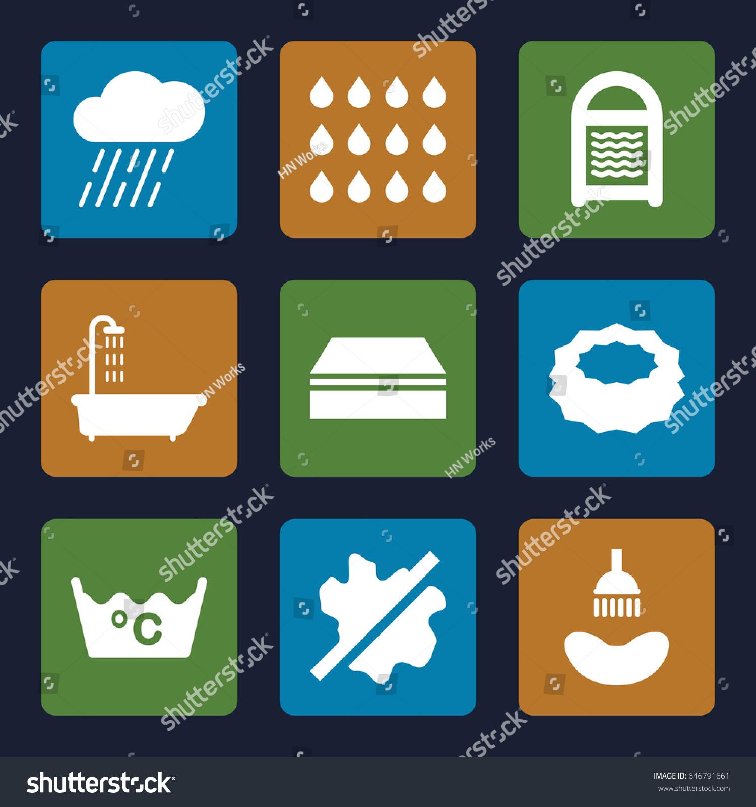 Wet icons set set 9 wet stock vector 646791661 shutterstock wet icons set set of 9 wet filled icons such as shower sponge biocorpaavc