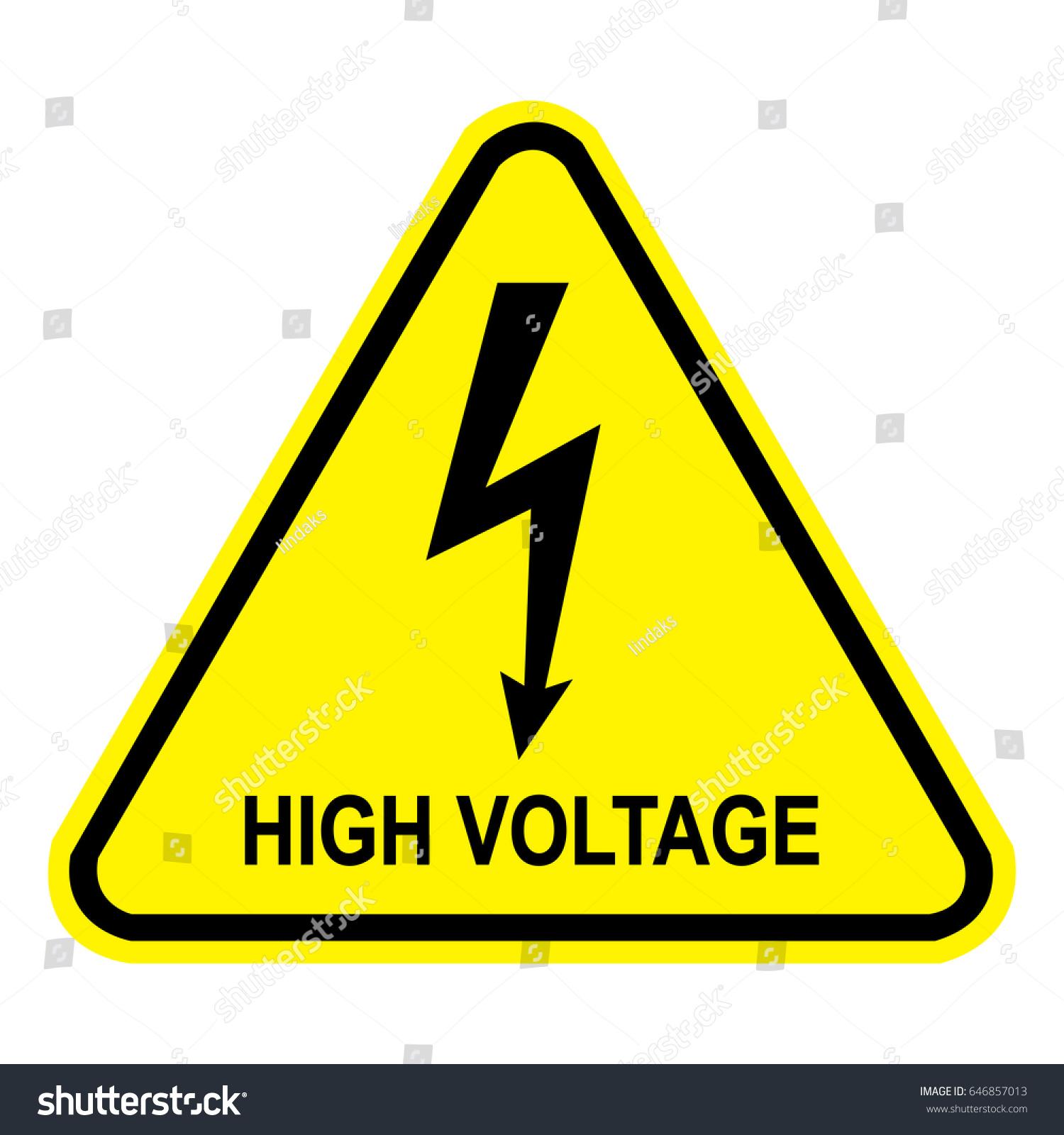 High voltage sign safety sign danger stock vector 646857013 high voltage sign safety sign danger symbol buycottarizona