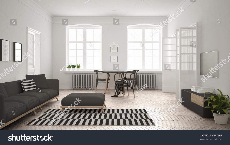 Minimalist Living Room Furniture. View In Gallery Grey Adds Sleek To ...