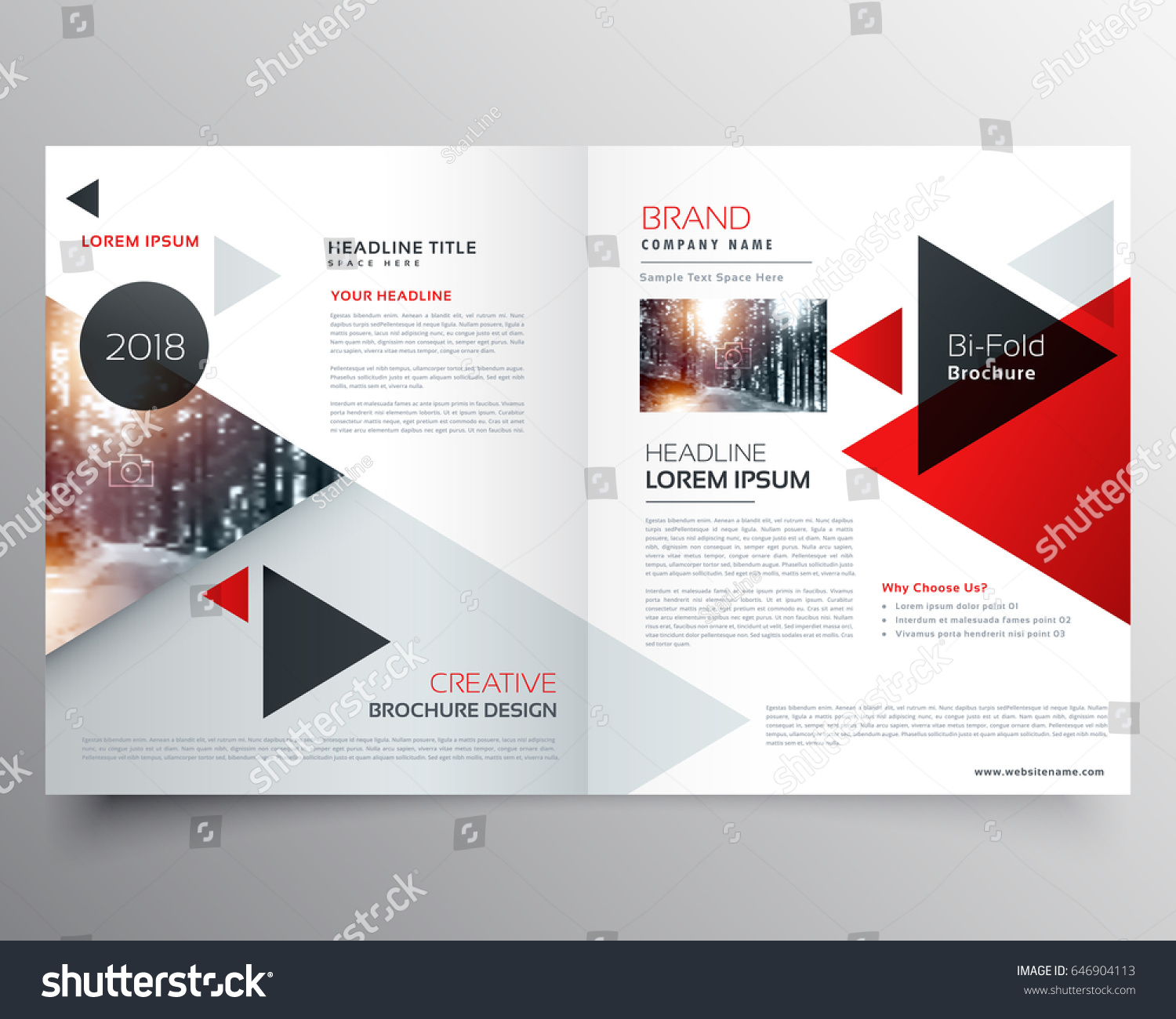 Business Bifold Brochure Magazine Cover Design Stock Vector Royalty
