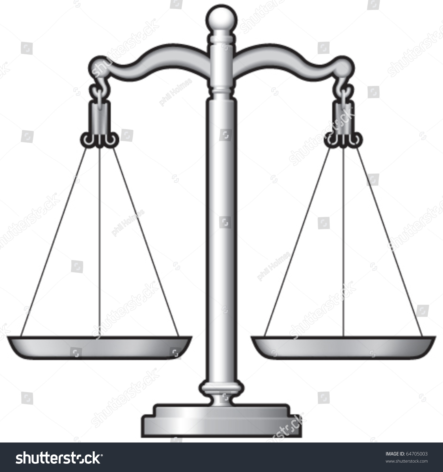 Justice Shop Measuring Scales Stock Vector 64705003 - Shutterstock