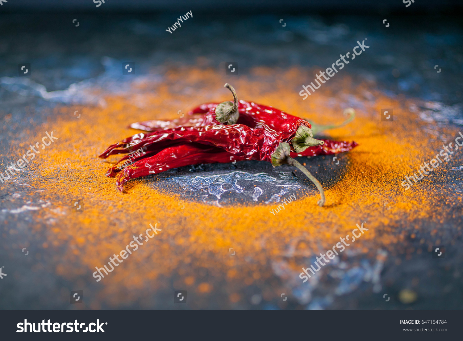 Cayenne Pepper Dried Chilli Peppers On Stock Photo (Edit Now