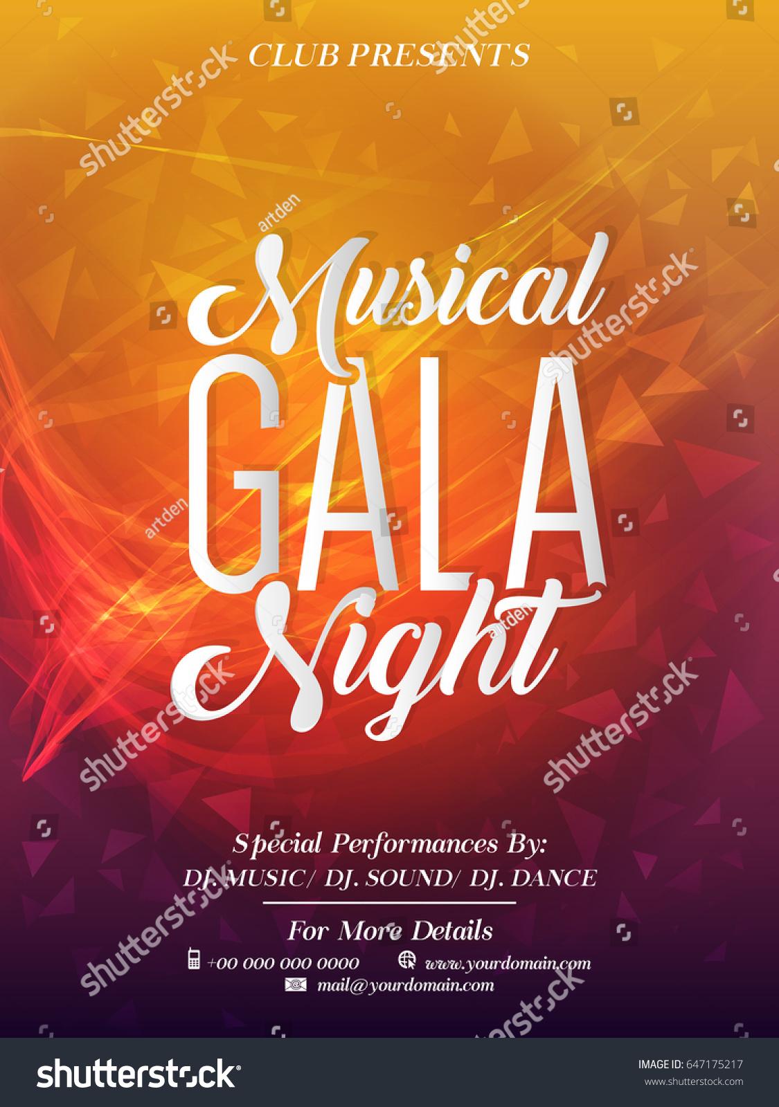 creative abstract party flyer musical gala stock vector royalty