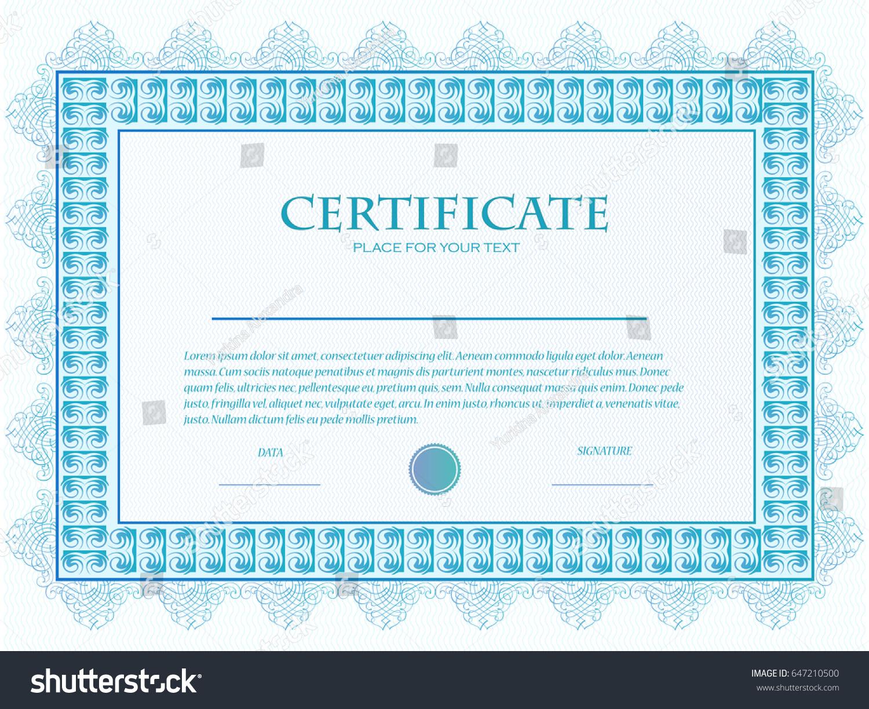 Illustration custom certificate template guilloche stock vector illustration of a custom certificate template with guilloche 1betcityfo Gallery