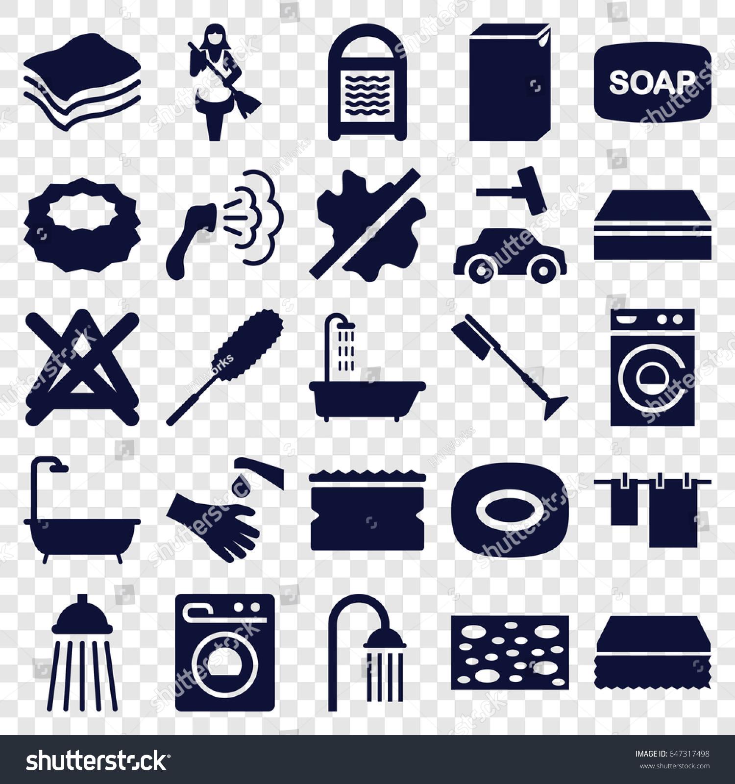Wash icons set set 25 wash stock vector 647317498 shutterstock wash icons set set of 25 wash filled icons such as shower soap biocorpaavc