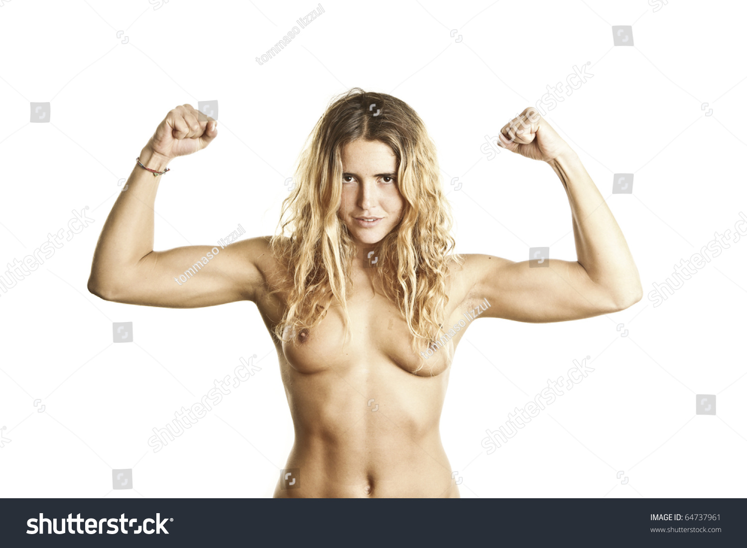 Question Young girls showing muscles