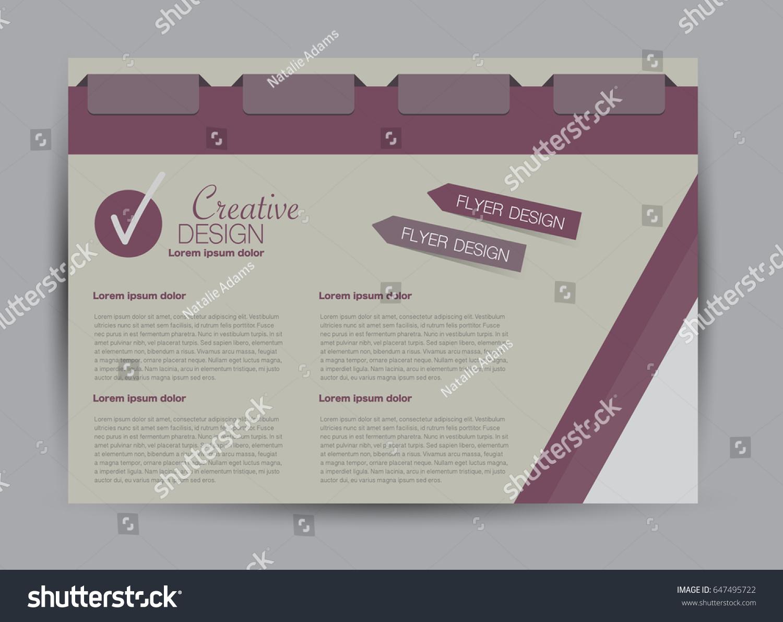 Flyer Brochure Billboard Template Design Landscape Stock Vector ...