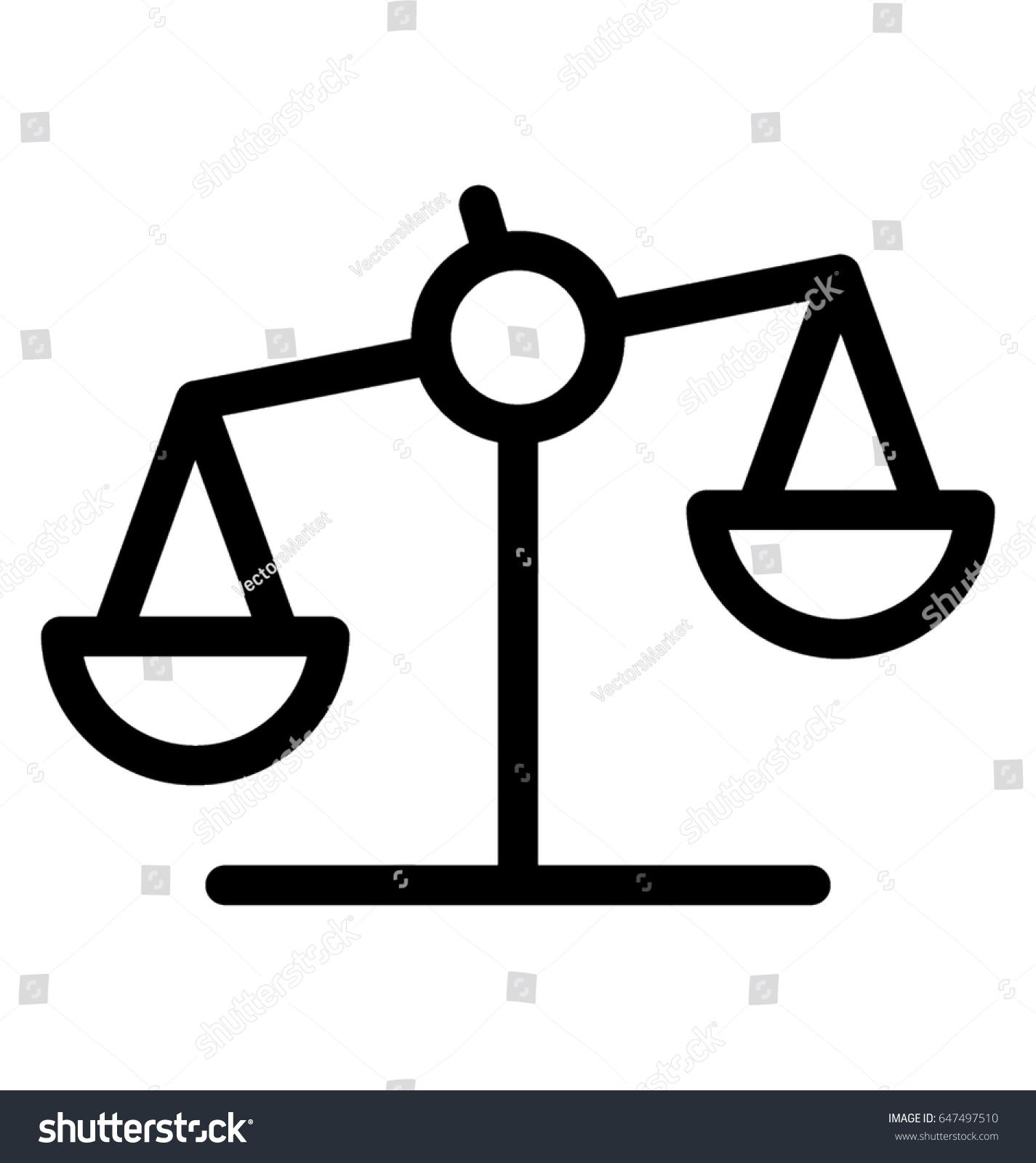 Balance scale vector icon stock vector 647497510 shutterstock balance scale vector icon biocorpaavc Images