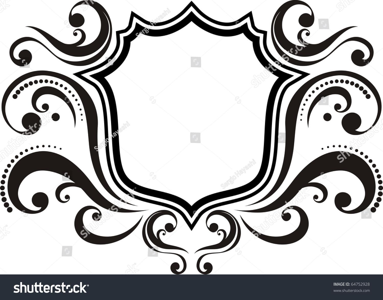 blank emblem with vintage style design elements use for logo frame vector format