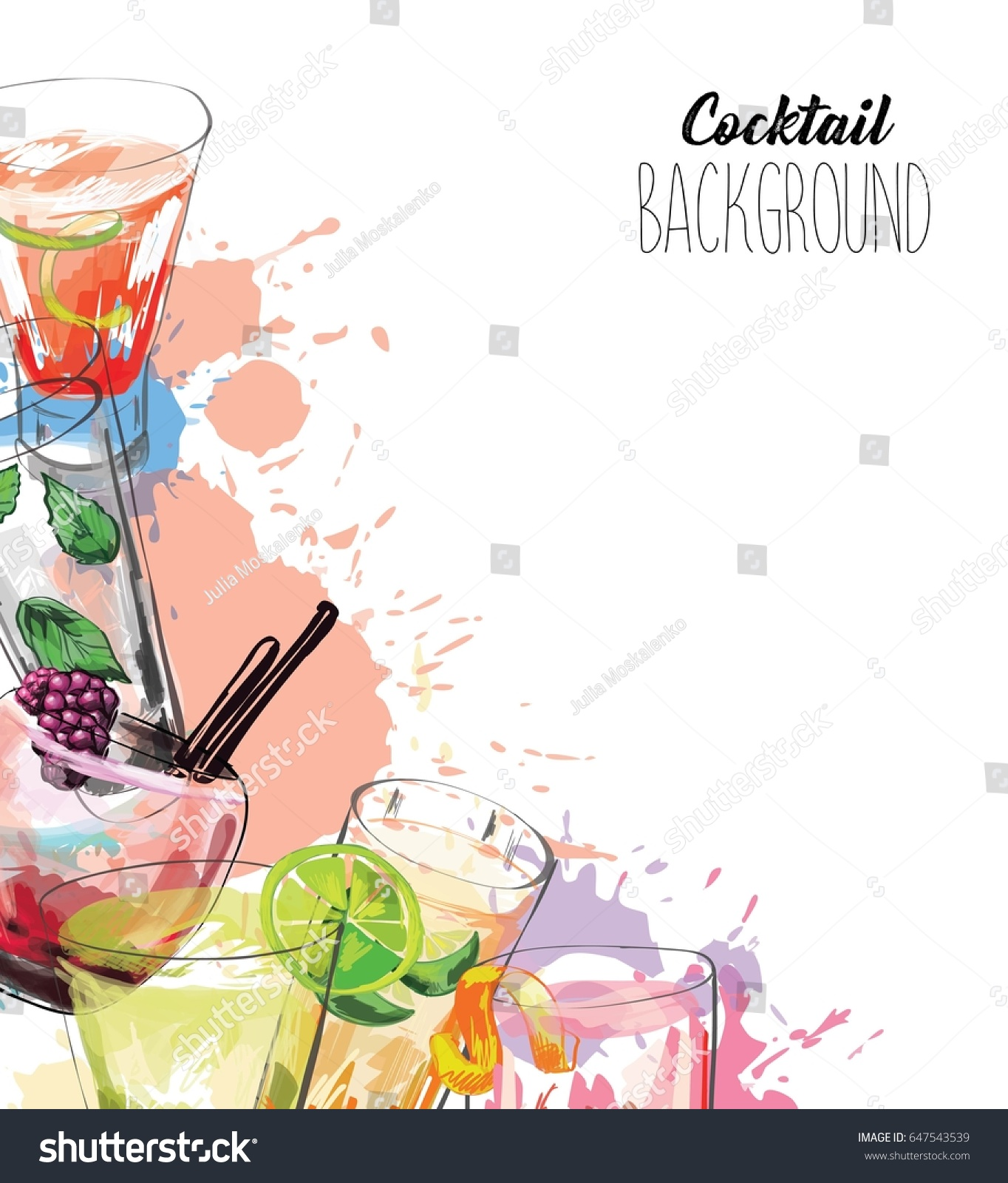 Drink Menu Background Design