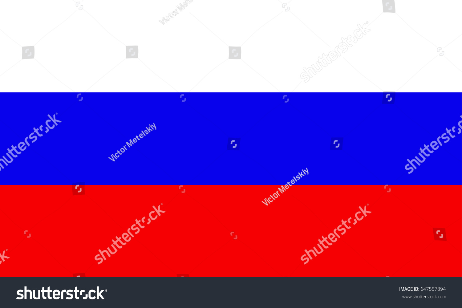Flag Russia Russian National Symbol Official Stock Illustration