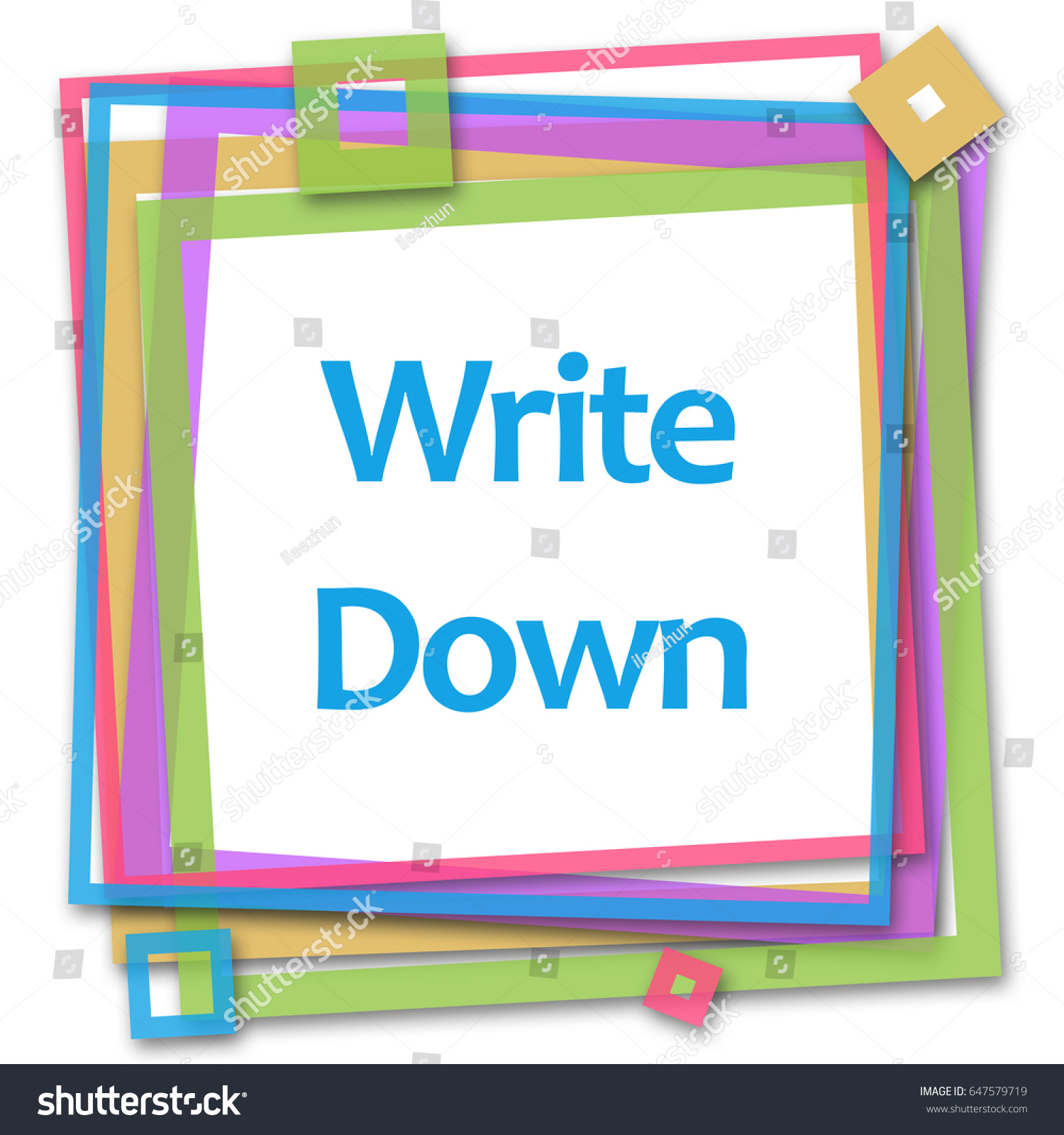 Write Down Colorful Frame Stock Illustration 647579719 - Shutterstock