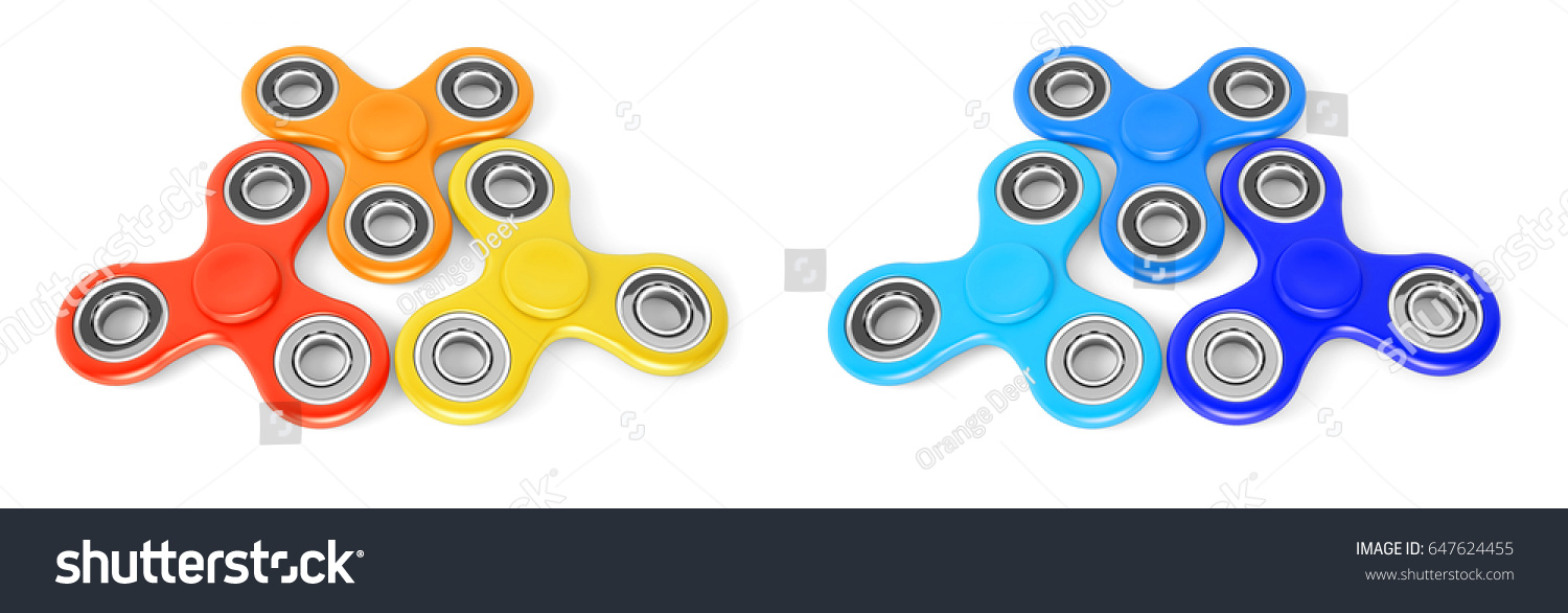 hand spinners another name finger spinners stock illustration