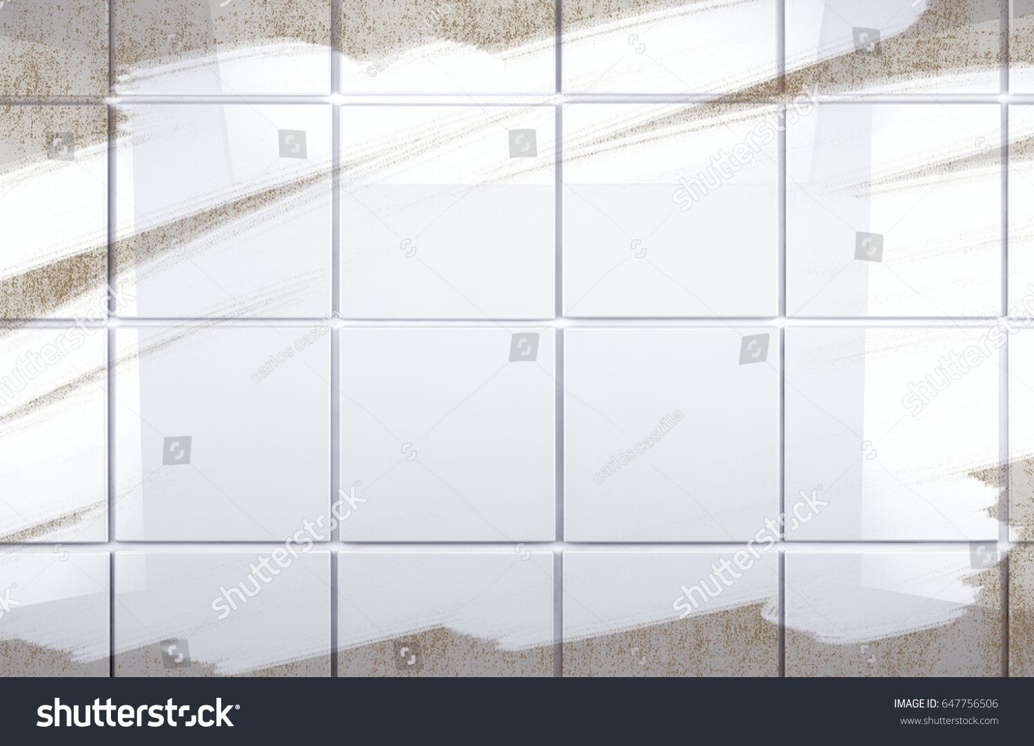 Background Cleaning Concept Housework Clean Tile Wall Stock ...