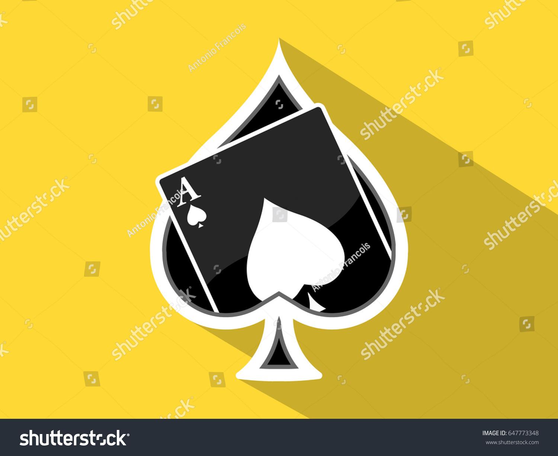 Ace spades icon flat yellow background stock vector 647773348 ace of spades icon flat yellow background vector biocorpaavc Choice Image