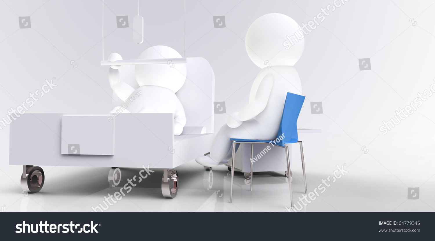 Royalty Free Stock Illustration Of Hospital Situation Patient Bed