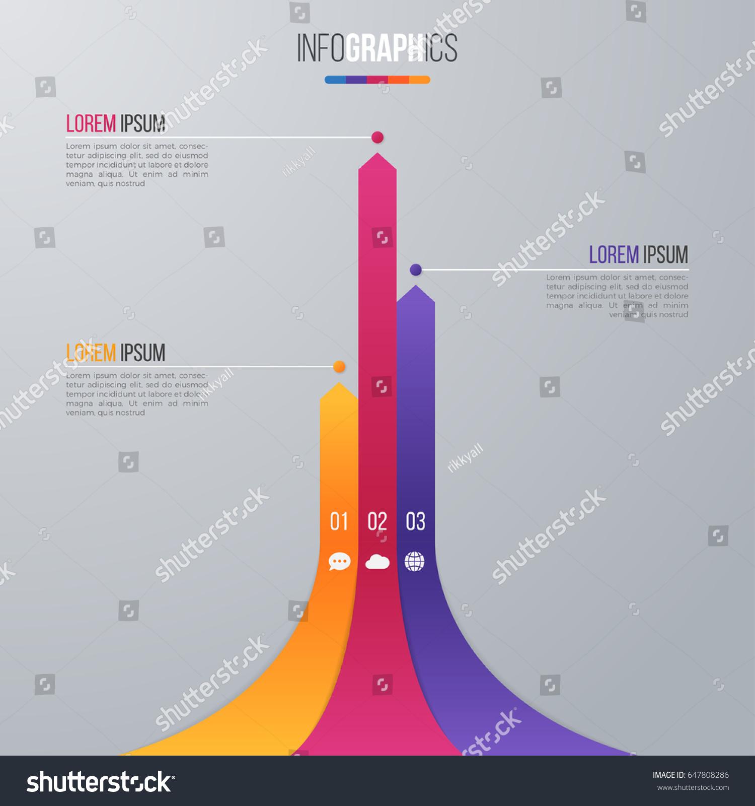 Bar Chart Infographic Template Data Visualization Stock Photo (Photo ...