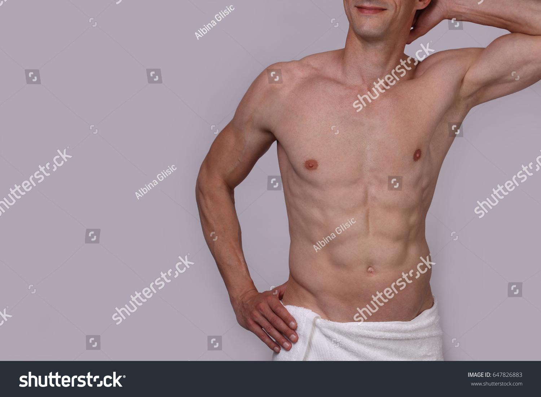 Muscular Male Torso Close Chest Armpit Stock Photo Edit Now