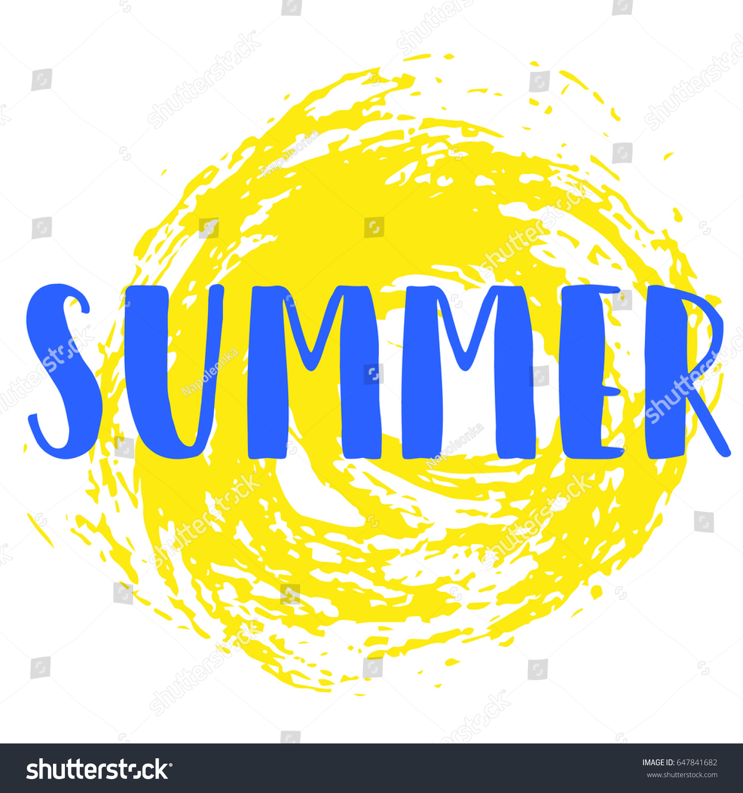 Lettering Summer Blue Letters On White Stock Vector Royalty Free