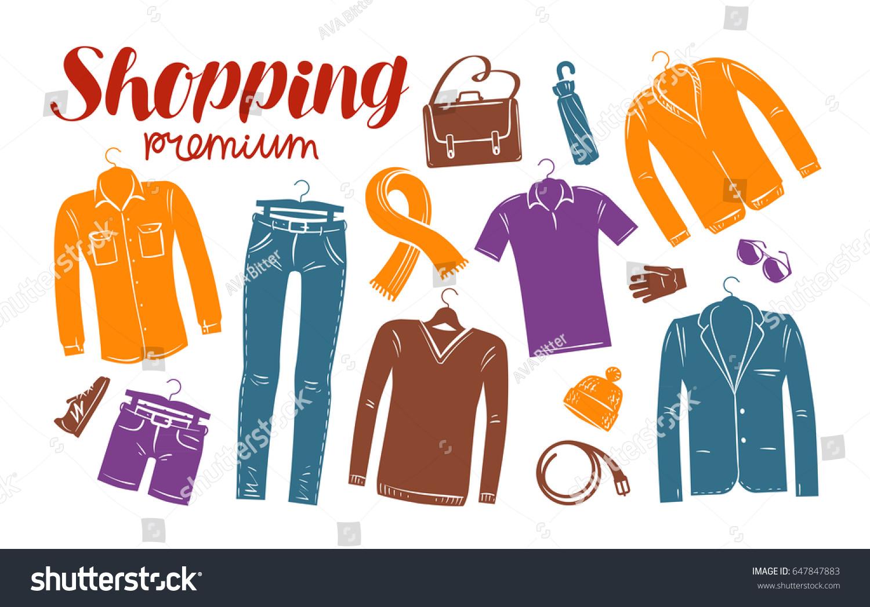 Shopping Fashion Clothes Shop Boutique Banner Stock Vector ...