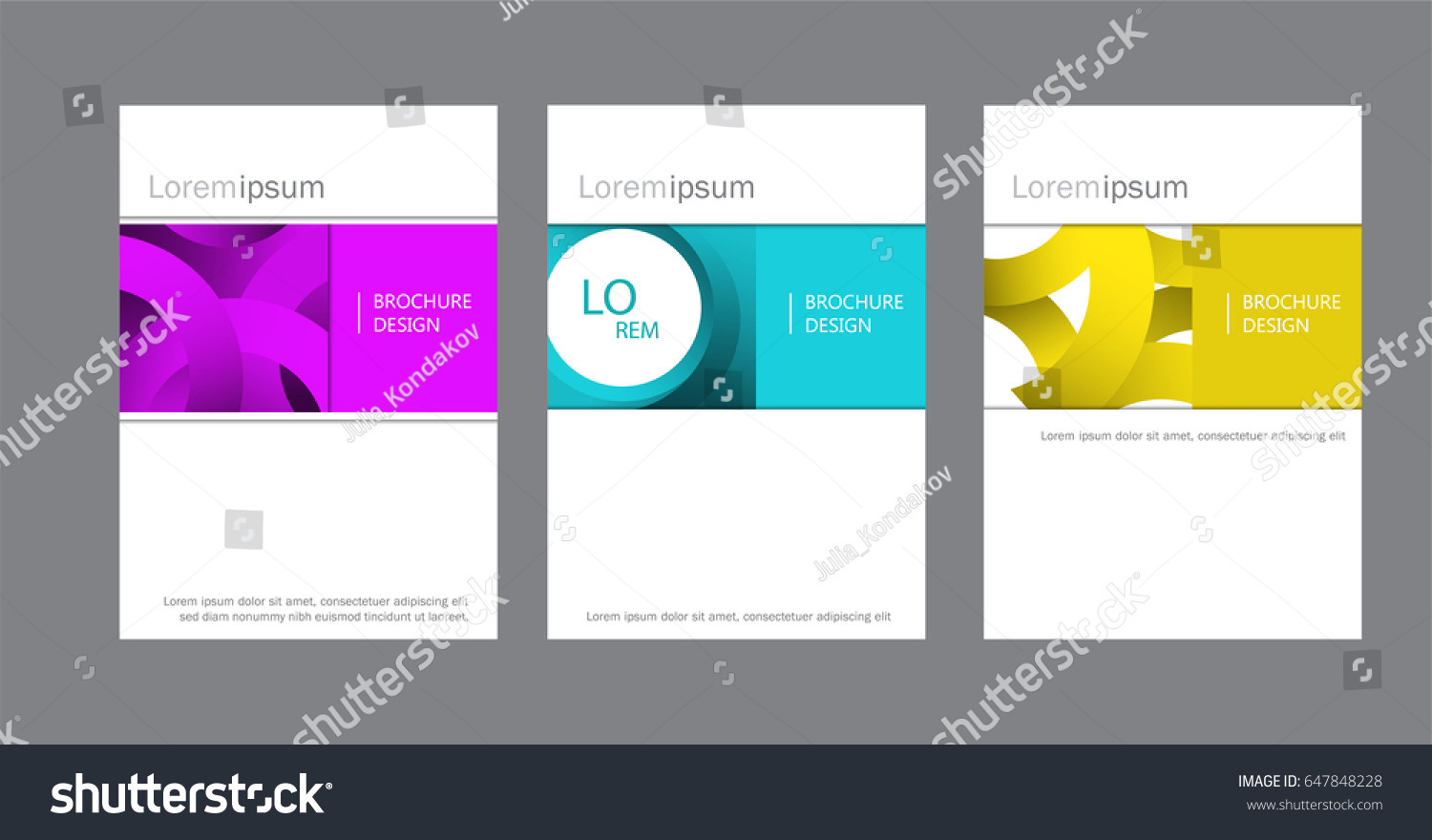 Set Corporate Brochure Document Cover Page Stock Vector (Royalty ...