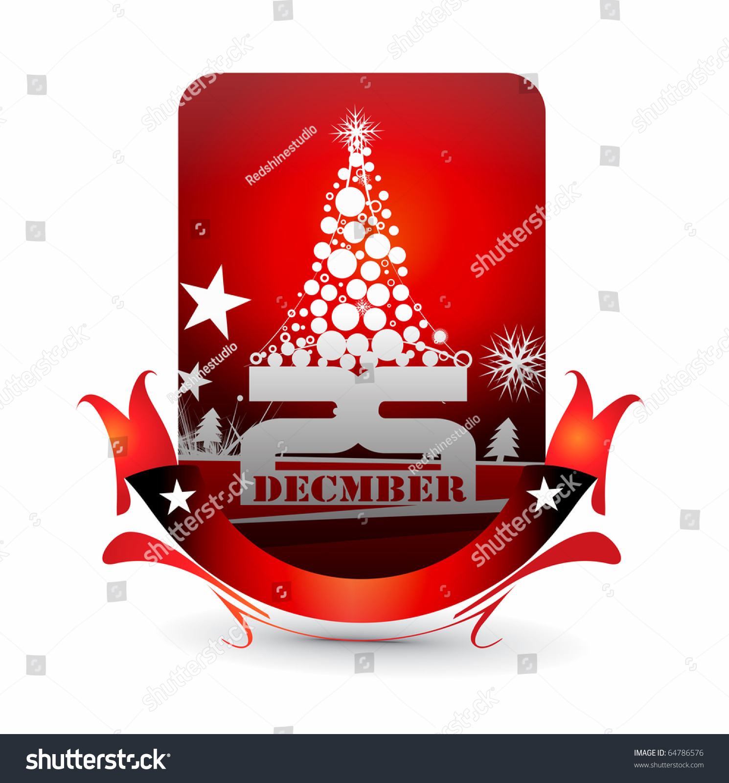 Vector Design Christmas Party Invitation Card Stock Vector 64786576 ...