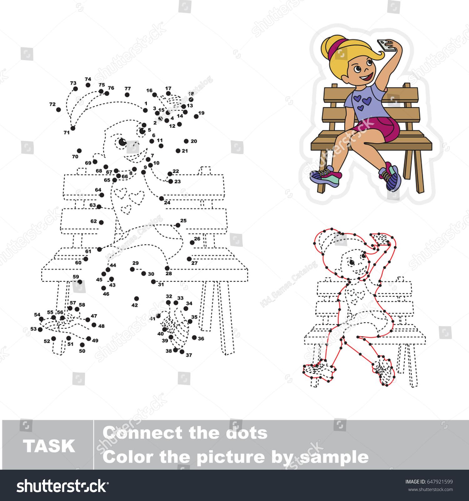 blondy self shot dot dot stock vector 647921599 shutterstock