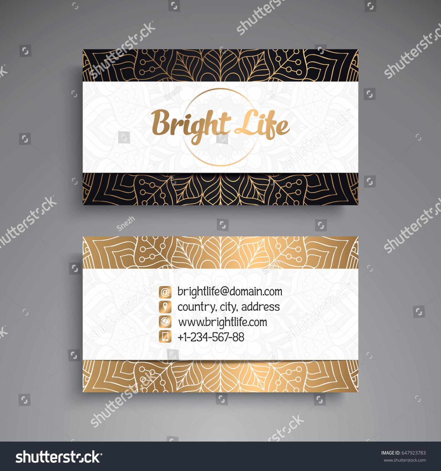 Business Card Vintage Decorative Elements Ornamental Stock Vector ...