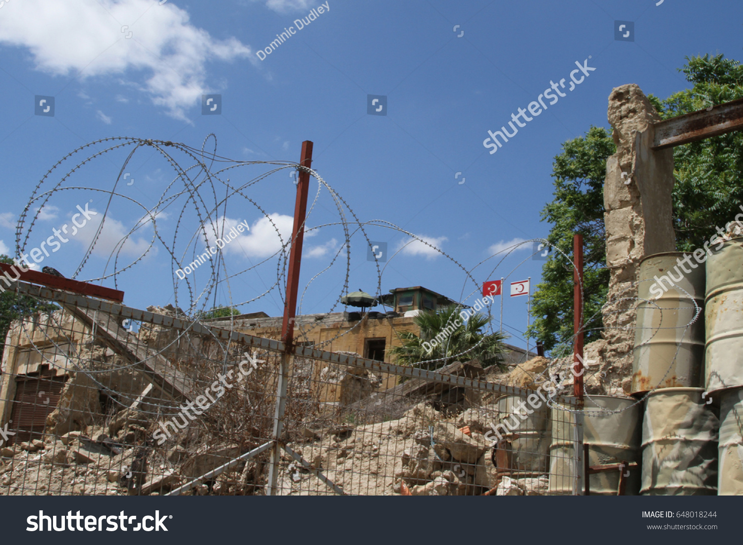 Sentry Post Flags Turkish Republic Northern Stock Photo (Edit Now ...