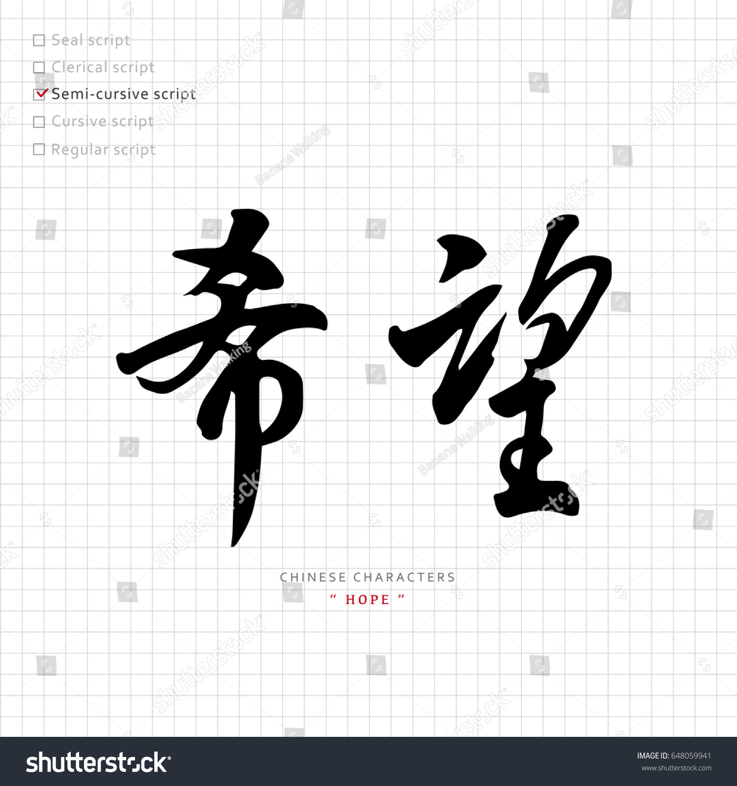 Vector chinese characters calligraphy hieroglyph translation stock vector chinese characters calligraphy hieroglyph translation meaning hope biocorpaavc