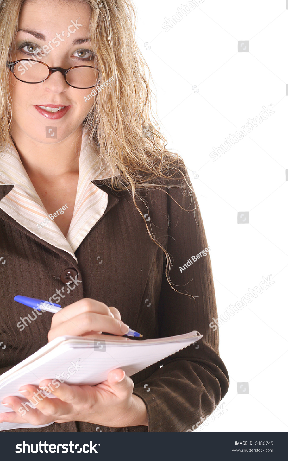 sexy assistant taking notes