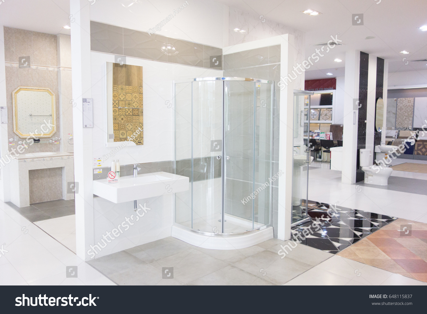 Thailand January 012007 Interior Showroom Bathroom Stock Photo ...