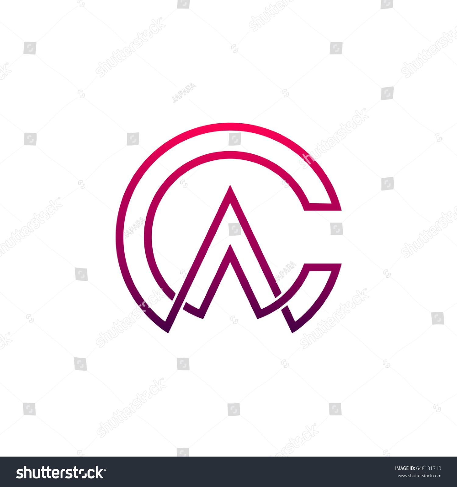 ca logo letter c and letter a initial logo template