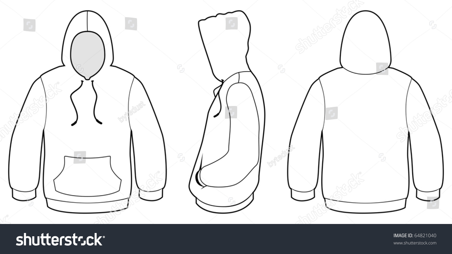 Template vector illustration blank hooded sweater stock vector template vector illustration of a blank hooded sweater all objects and details are isolated pronofoot35fo Choice Image