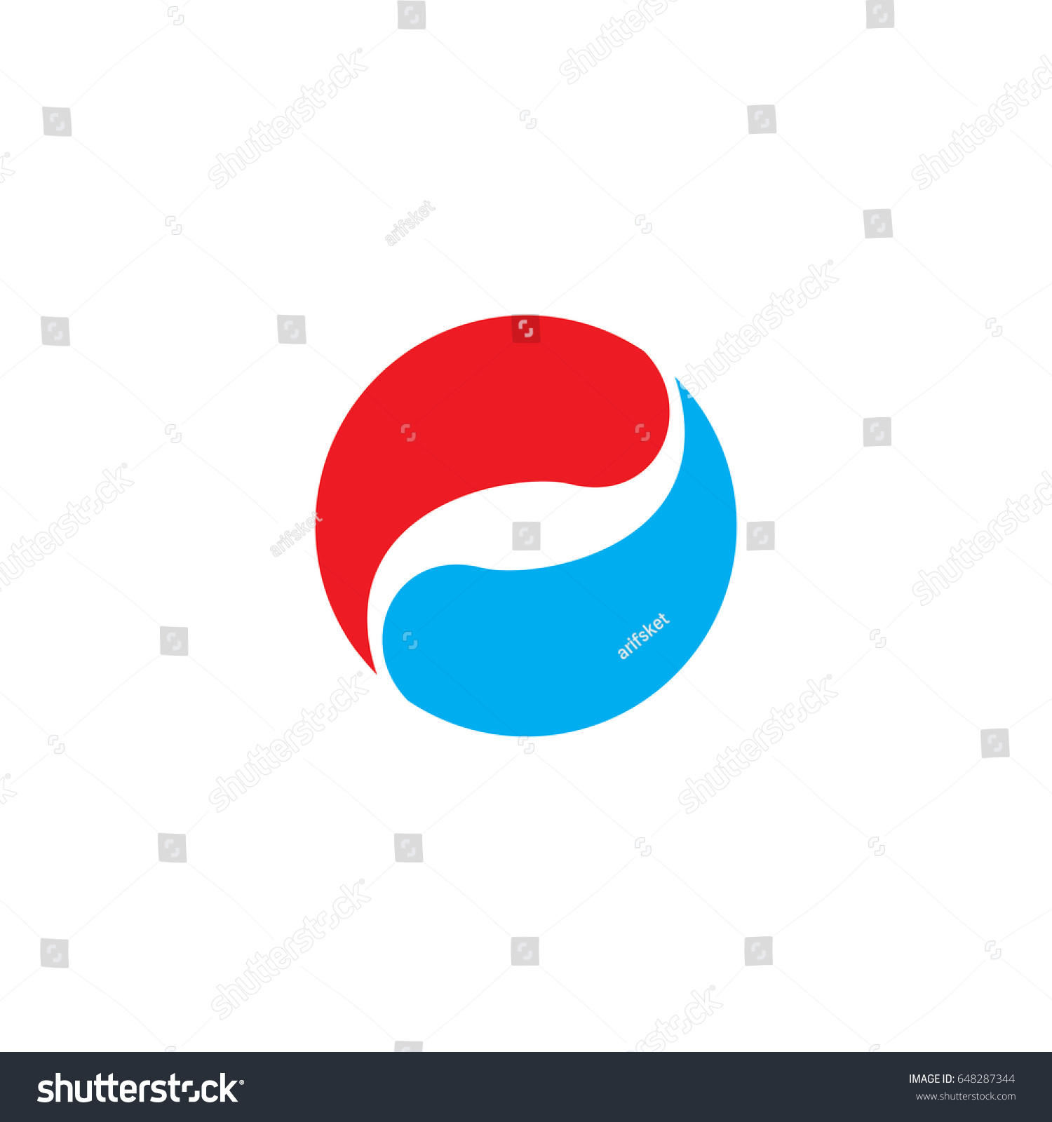 Fire water logo stock vector 648287344 shutterstock fire and water logo biocorpaavc Choice Image