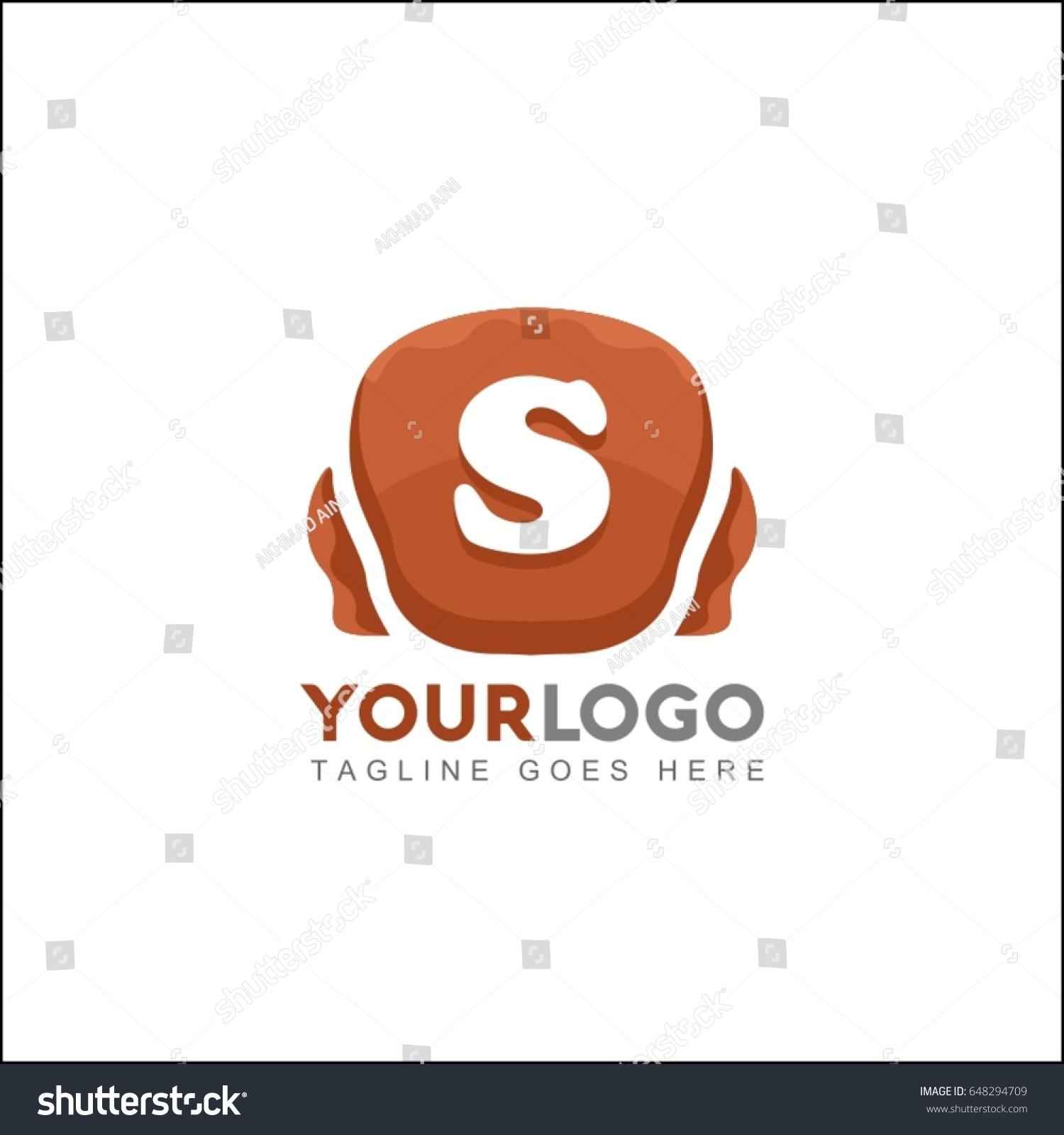 S Letter Stone Brand Identity Logo Stock Vector Royalty Free