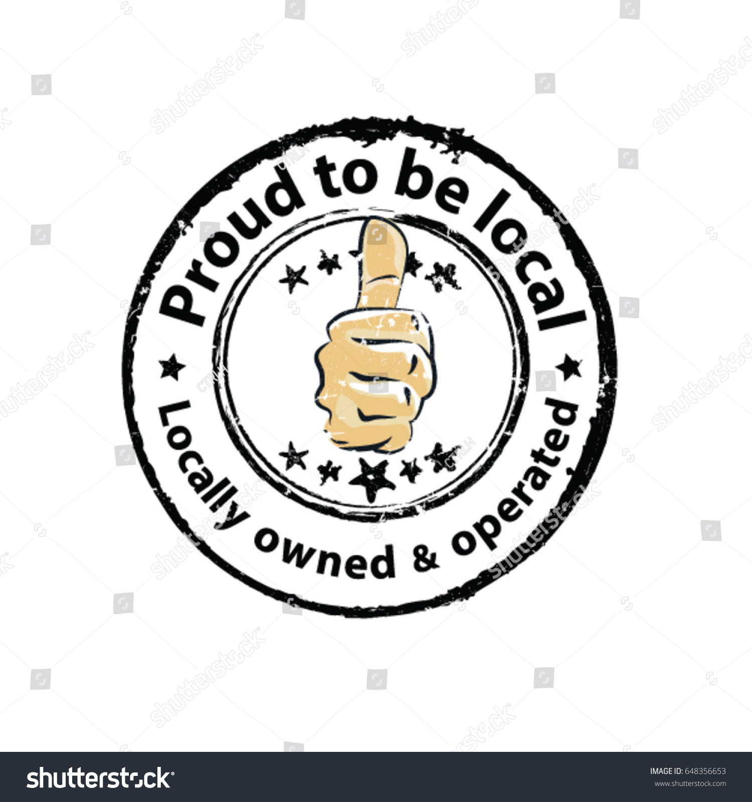 Proud Be Local Locally Owned Operated Stock Vector ...