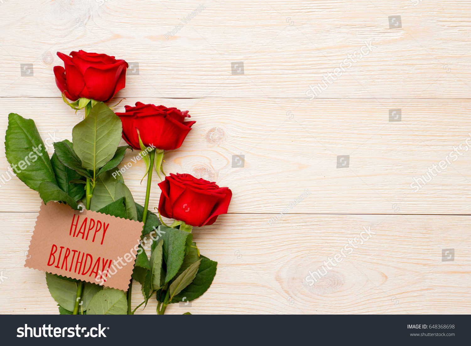 Happy Birthday Greeting Text On Craft Stock Photo Royalty Free