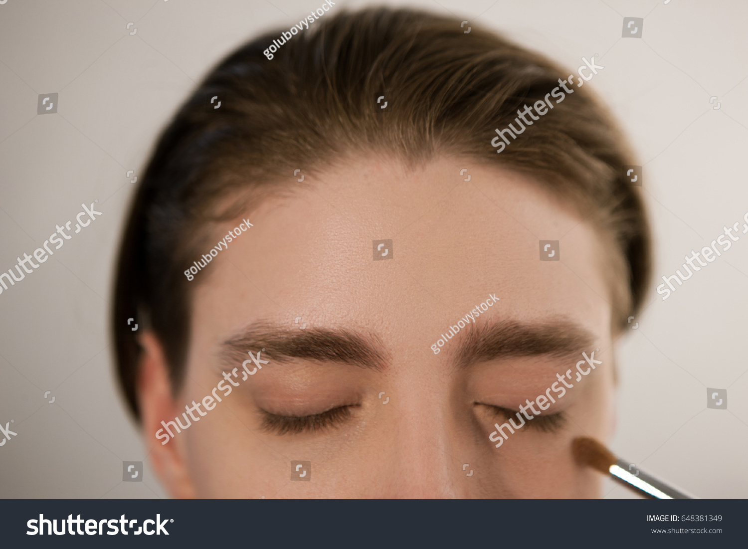 Applying Concealer Cover Dark Circles Under Stock Photo Edit Now